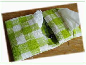 ふた あり ポケット ケース ティッシュ 作り方 一枚布を折り畳むだけ!簡単ティッシュケース付き移動ポケットの作り方